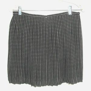 MADEWELL skirt Lined Pleated Mini Geometric Print